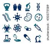 biohazard  toxic icon set | Shutterstock .eps vector #450375589
