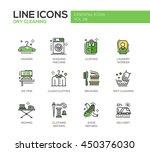 laundry   modern vector line... | Shutterstock .eps vector #450376030