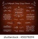 ornate frames and scroll... | Shutterstock .eps vector #450378394