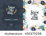 save the date cards  wedding... | Shutterstock .eps vector #450379258