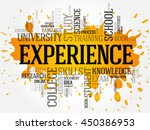 experience word cloud collage ... | Shutterstock .eps vector #450386953