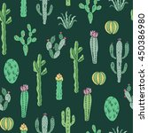 cactus vector pattern. seamless ... | Shutterstock .eps vector #450386980