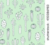 cactus vector pattern. seamless ... | Shutterstock .eps vector #450386983