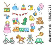 baby and child icons. hand... | Shutterstock .eps vector #450387256
