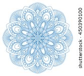 ethnic mandala symbol for... | Shutterstock .eps vector #450390100
