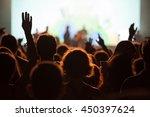 crowd at concert   cheering... | Shutterstock . vector #450397624