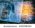 stock market graph double... | Shutterstock . vector #450398434