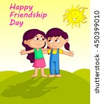 happy friendship day | Shutterstock .eps vector #450399010