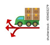 multiple delivery points | Shutterstock .eps vector #450403279