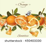 vector orange seamless... | Shutterstock .eps vector #450403330