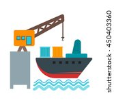 delivery via shipping | Shutterstock .eps vector #450403360