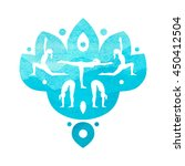 vector yoga illustration with... | Shutterstock .eps vector #450412504