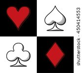 four card suits hearts spade... | Shutterstock .eps vector #450414553