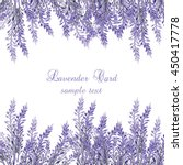lavender card with flowers in... | Shutterstock .eps vector #450417778