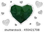 green heart isolated on white... | Shutterstock .eps vector #450421708
