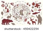 handsketched elements of... | Shutterstock .eps vector #450422254