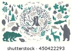handsketched elements of... | Shutterstock .eps vector #450422293