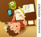 back to school concept... | Shutterstock .eps vector #450423619