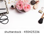 beautiful pink flowers  french... | Shutterstock . vector #450425236