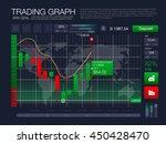 hud ui for business app. binary ... | Shutterstock .eps vector #450428470