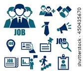 job search icon set | Shutterstock .eps vector #450435670