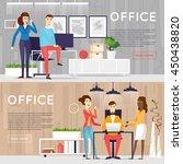 business cartoon characters.... | Shutterstock .eps vector #450438820