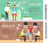 business cartoon characters....   Shutterstock .eps vector #450438850