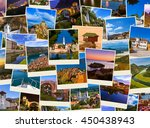 stack of montenegro and bosnia... | Shutterstock . vector #450438943