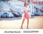 fashion lifestyle portrait of... | Shutterstock . vector #450439999