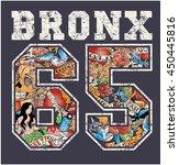 bronx new york   artwork for... | Shutterstock .eps vector #450445816