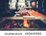 interior of modern restaurant... | Shutterstock . vector #450445984
