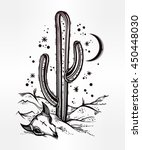 hand drawn romantic flash... | Shutterstock .eps vector #450448030