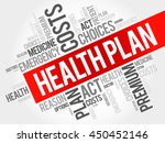 health plan word cloud collage  ... | Shutterstock .eps vector #450452146