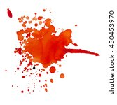abstract watercolor stain with... | Shutterstock .eps vector #450453970