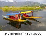 Colorful Shikaras on Dal Lake, Kashmir