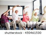 seniors doing exercises in a... | Shutterstock . vector #450461530