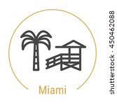 miami  united states  outline...   Shutterstock .eps vector #450462088