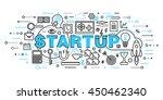 modern flat thin line design... | Shutterstock .eps vector #450462340