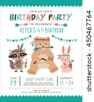kids birthday invitation card... | Shutterstock .eps vector #450467764