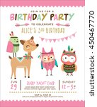 kids birthday invitation card... | Shutterstock .eps vector #450467770
