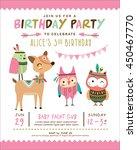 kids birthday invitation card... | Shutterstock .eps vector #450467770