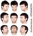 short hair brunette adult... | Shutterstock . vector #450468394
