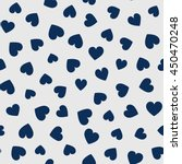 seamless hearts pattern. vector ... | Shutterstock .eps vector #450470248