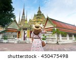 Tourist Is Sightseeing At Wat...