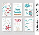 set of cute cards templates for ... | Shutterstock .eps vector #450476980