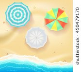 summer travel background. sunny ... | Shutterstock .eps vector #450479170