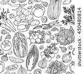 vegetable sketchy seamless... | Shutterstock .eps vector #450480814