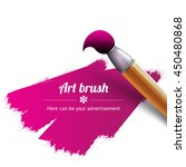 brush for artistic painting ... | Shutterstock .eps vector #450480868