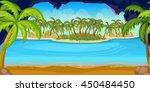 tropical beach and islands... | Shutterstock .eps vector #450484450