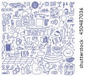 adult party hand drawn set.... | Shutterstock .eps vector #450487036